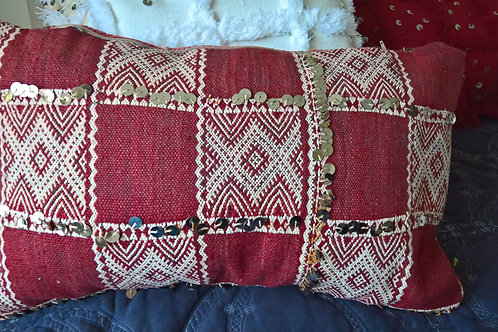 Vintage Berber Checked Cushion