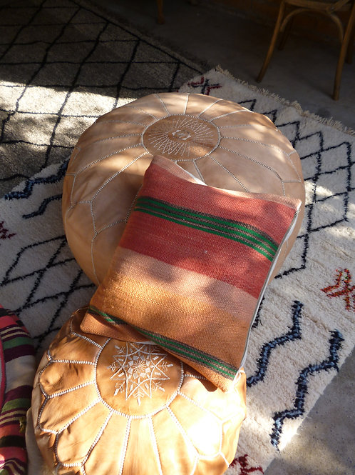 Oversized Leather Pouffe