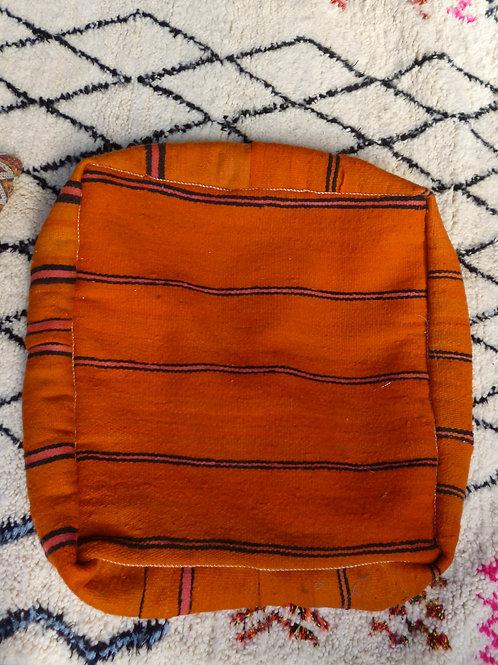 Orange Striped Floor Cushion