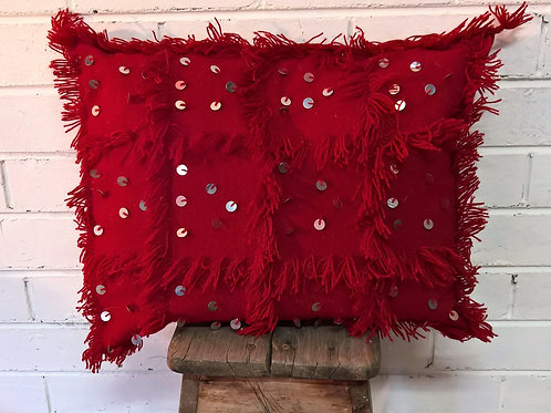 Red Handira Cushion