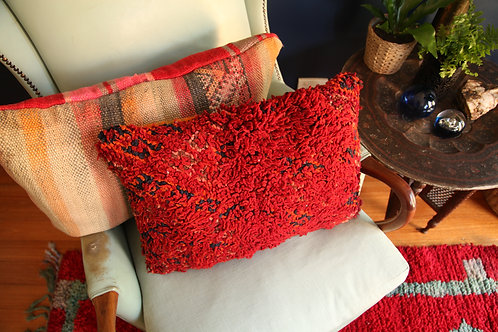 Boujad Red Vintage Cushion