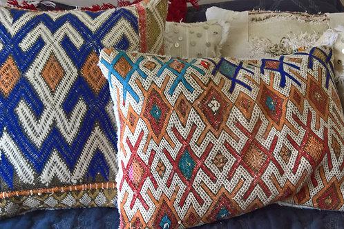 Multi Coloured Kilim Embroidered Cushions
