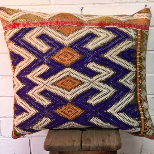 Blue & White Kilim Cushions