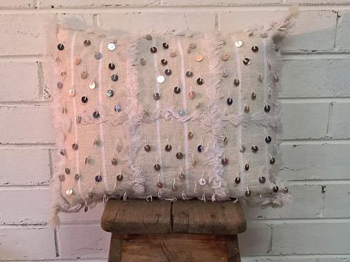 White Handira Cushion
