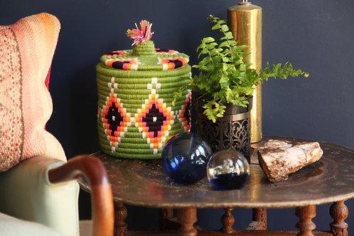 Green Berber Bread Baskets