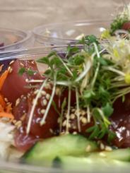 Take away poké bowl tonijnsashimi