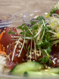 Take away poké bowl tonijnsashimi