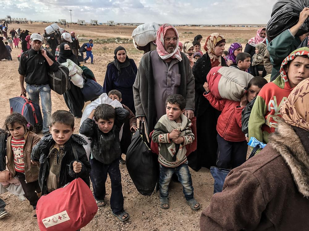 Geflüchtete an der Jordanisch-Syrischen Grenze. HUMAN FLOW, Amazon Studios. Foto mit freundlicher Genehmigung von Amazon Studios.
