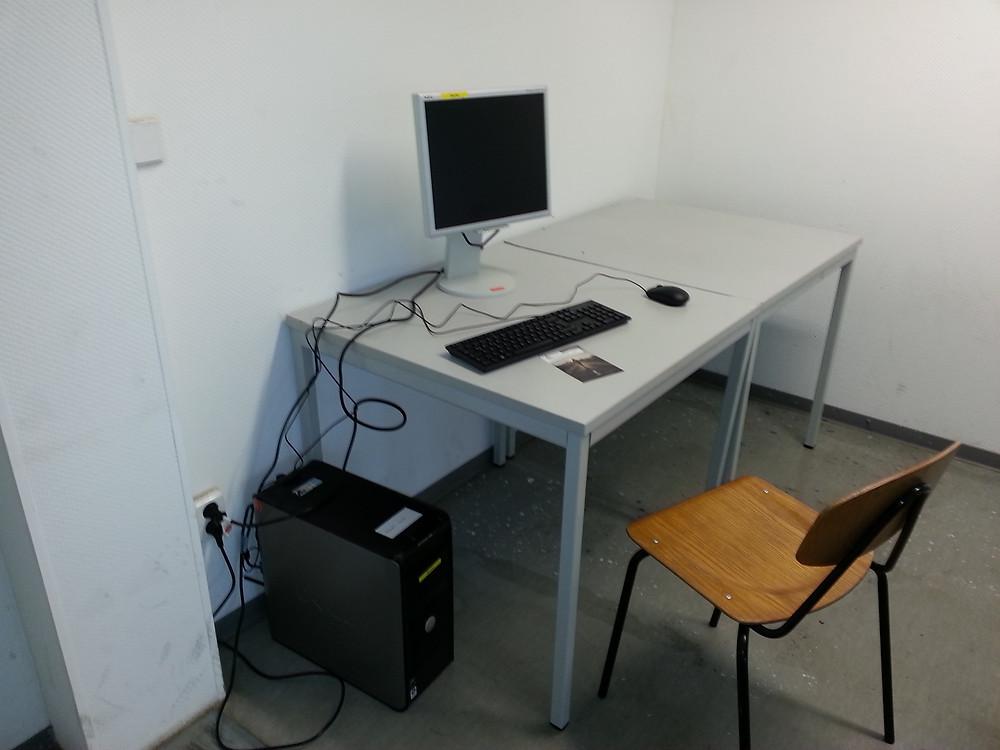 Einer der gespendeteten PCs im ÜWH Bad Belzig, Foto: Heimleitung