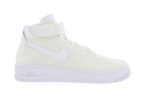check out f063d e169d Nike Air Force 1 Flyknit Mid White