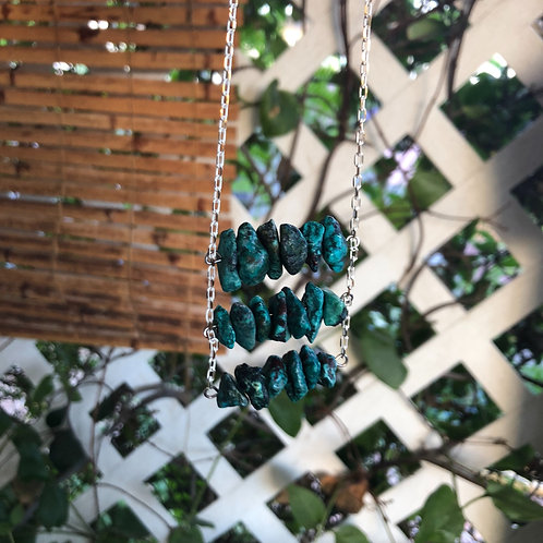 3 Bar Turquoise Necklace