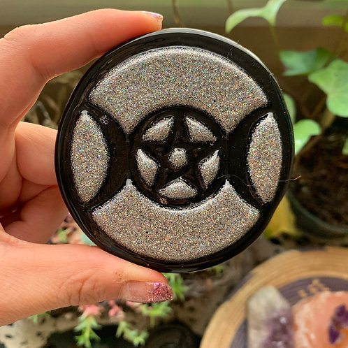 Holo Glitter/Black Resin Charging Plate