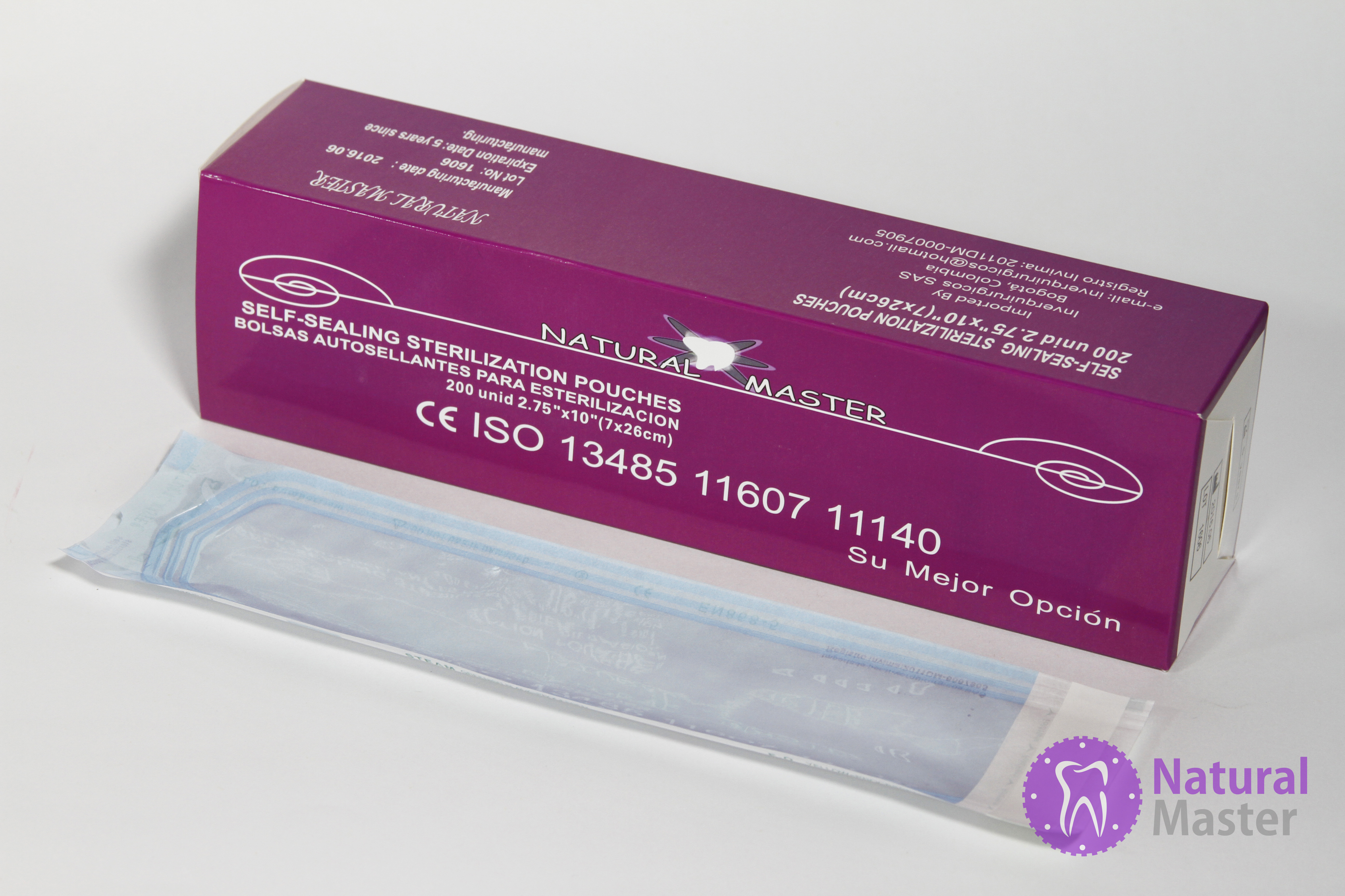 Bolsa para esterilizar 200 Und 7 x 26 CM