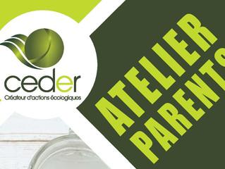 à venir : Ateliers éco-consommation Avec le ceder
