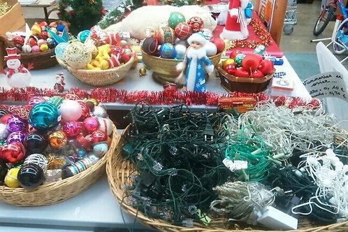 lot de boules décoration de noël