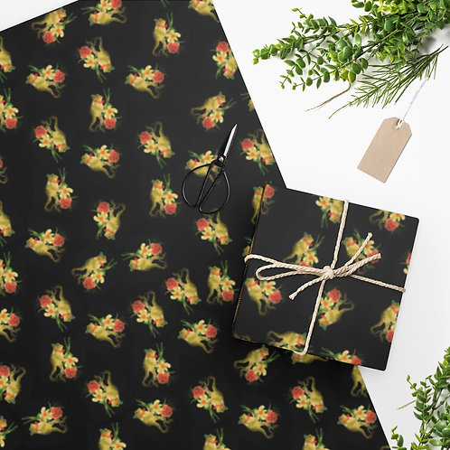 Gentlemanly Frog Wrapping Paper