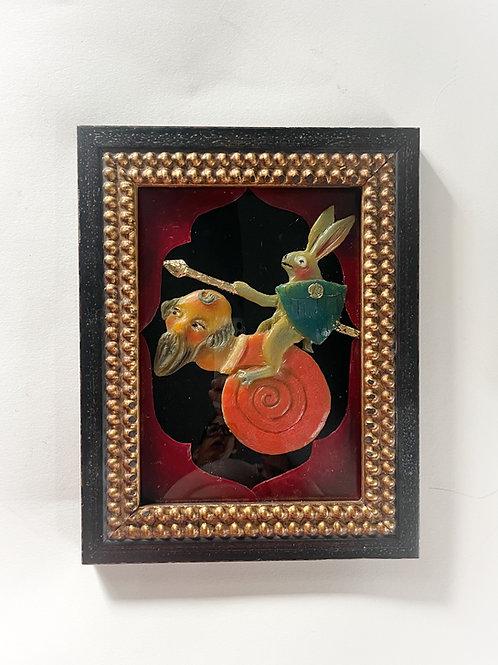 Rabbit Knight Riding Snail Man