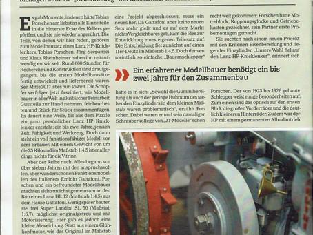 Bericht in der aktuellen Ausgabe der Traktor Classic (01/2018)