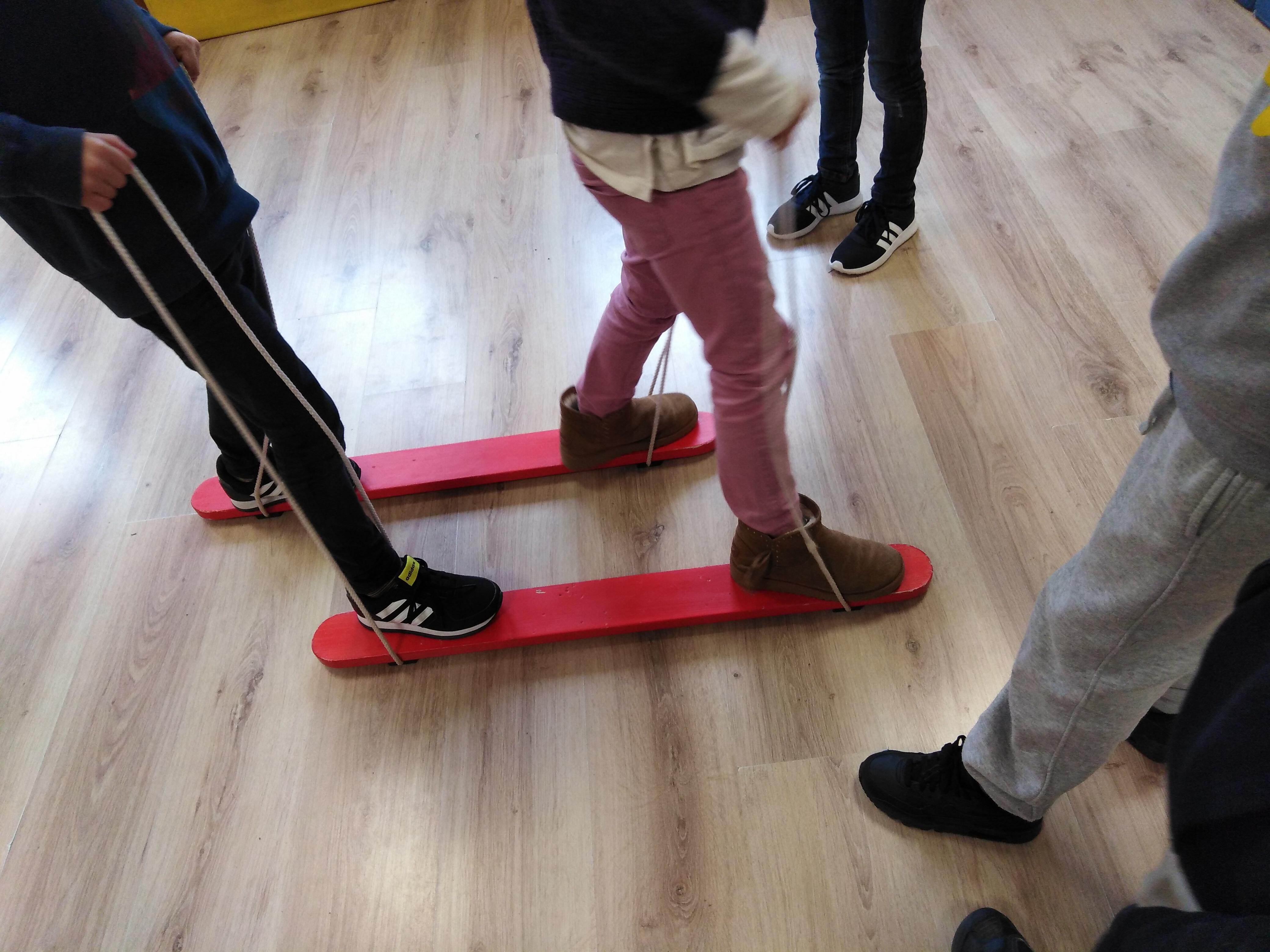 Skis de coordination à 2