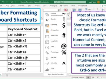 Excel Tip – Number Formatting Keyboard Shortcuts