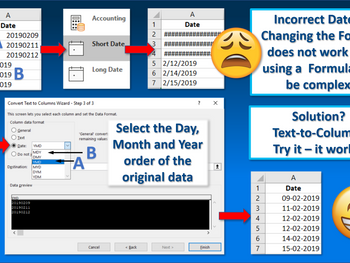 Excel Tip - Fixing Incorrect Dates