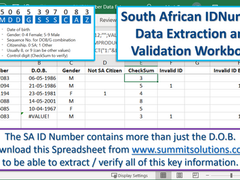 Excel Tip - Validating an SA ID Number