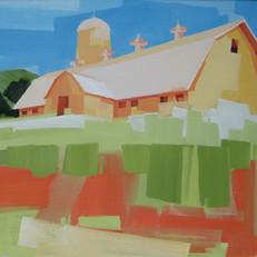 "Dairy Farm Route 35 Ohio – oil on canvas – 20"" x 24"""