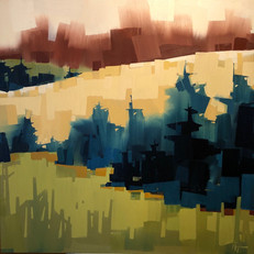"Western Hillside Ohio – oil on canvas – 40"" x 40"" – $3,950"