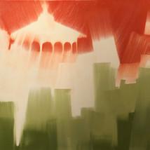 """Mt Adams Gazebo – oil on canvas – 40"""" x 40"""""""