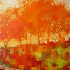 """Maple Ridge – oil on canvas – 34"""" x 34"""""""