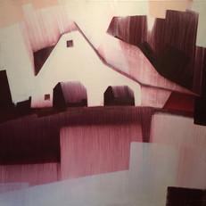 "Hillside Barn Valle Crucis – oil on canvas – 40"" x 40"" – $3,950"