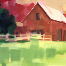 """Barns of Valle Crucis – oil on canvas – 16"""" x 20"""" – $875"""