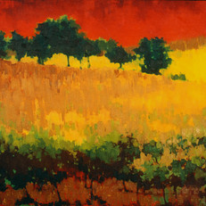October Red – oil on canvas