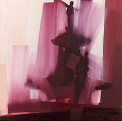 "Fountain Square – oil on canvas – 46"" x 46"""