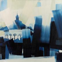 """Eden Park Gazebo – oil on canvas – 46"""" x 46"""""""