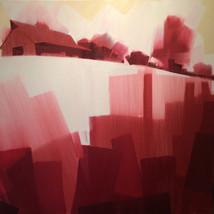 """Kentucky Farms – oil on canvas – 40"""" x 40"""""""