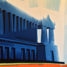 """Soldier Field – oil on canvas – 46"""" x 46"""" – $4,400"""