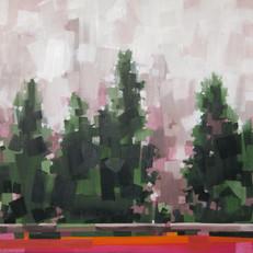 """Cedar Fog 1 of 2 – oil on canvas – 34"""" x 34"""" – $3,350"""
