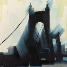 "Suspension Bridge – oil on canvas – 46"" x 46"""