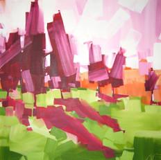 "Cedar Fields – oil on canvas – 34"" x 34"" – $3,350"
