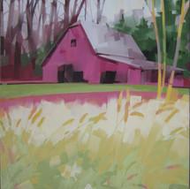 "Mountain Side Barn, Valle Crucis, NC – oil on canvas – 34"" x 34"""