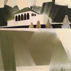 """Alms Park – oil on canvas – 12"""" x 12"""" – $395"""