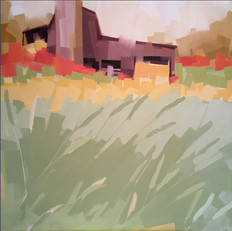 """Fields of Hay #4 – oil on canvas – 34"""" x 34"""" – $3,350"""
