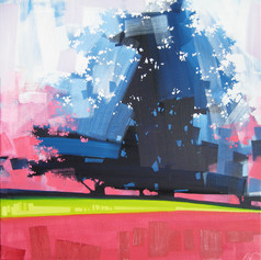 """Airy Maples – oil on canvas – 34"""" x 34"""""""
