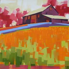 """Monnig Radket Farm #2 – oil on canvas – 34"""" x 34"""""""