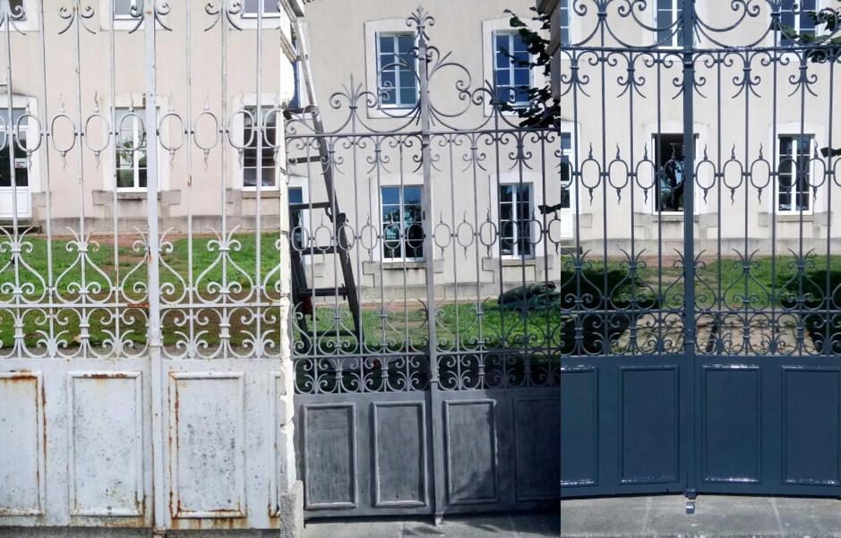 Sablage sur portail