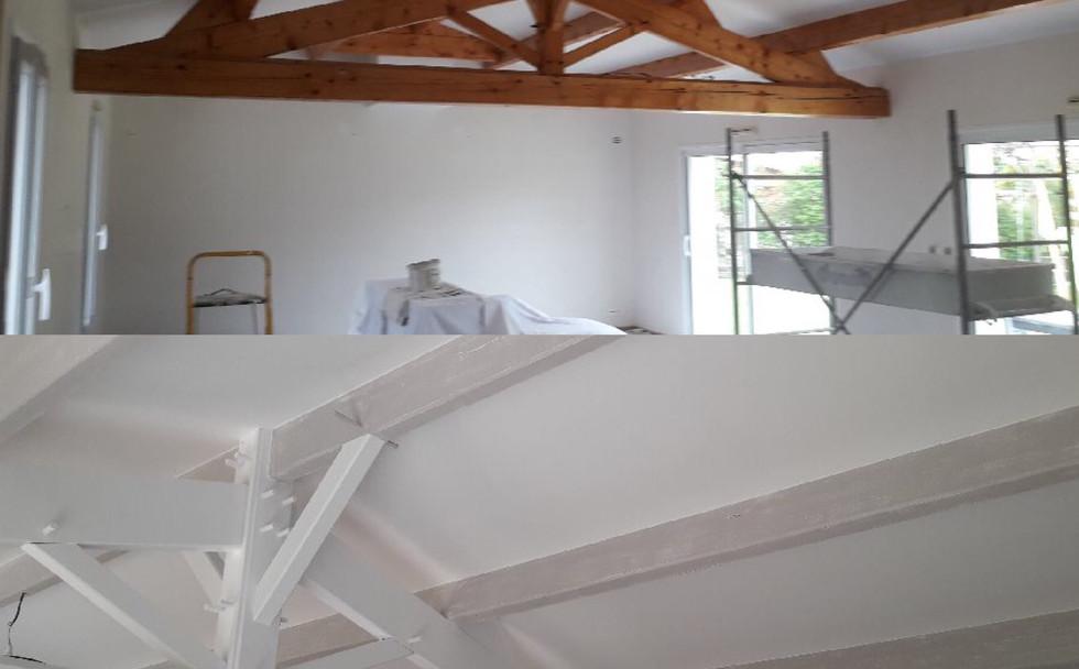 Peinture plafonds et poutres