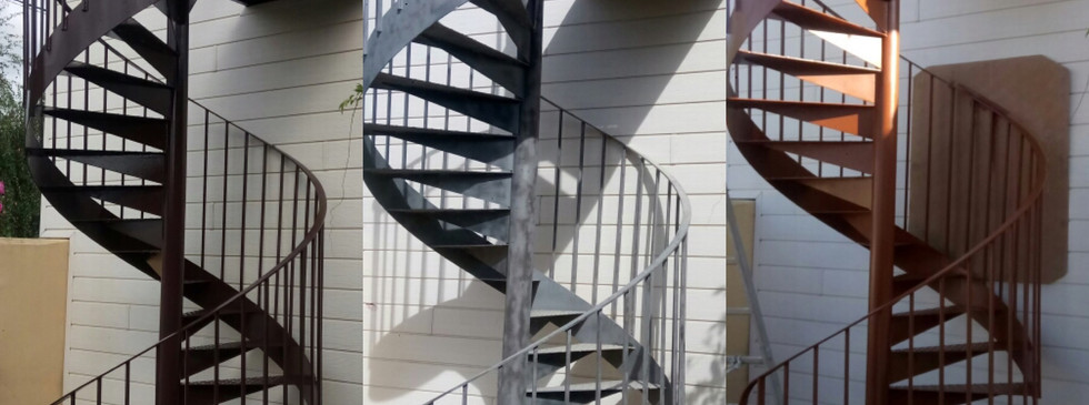 Sablage sur escalier