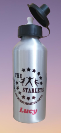 600ml metal printed water bottle.