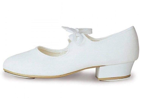 White low heel tap shoe child sizes 9-1